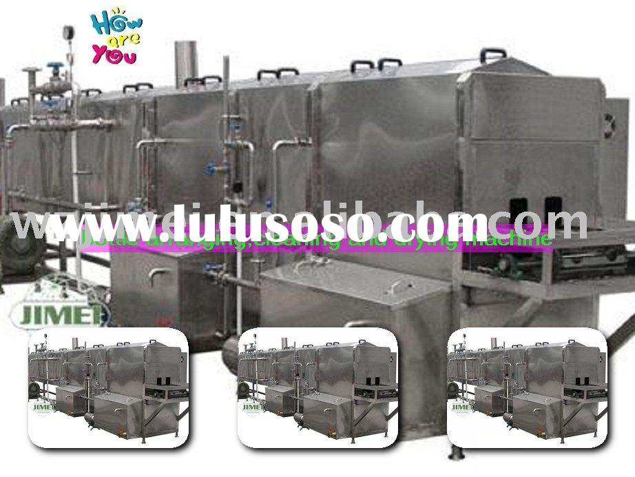 Glass bottle cleaning and drying machine/washer dryer