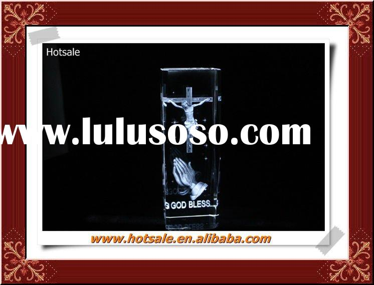 High Definition 3D laser Crystal image engraved religious gift items&swarsoki crystal