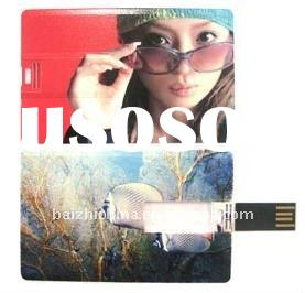 Hotselling OEM logo credit card usb flash drive