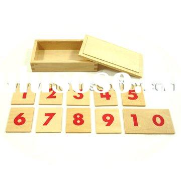 Number Cards For Number Rods Montessori toy of educational material
