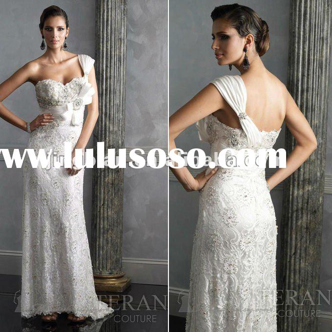 SC1574 Elegant latest dress designs fashion 2012 mother of the bride lace dresses by Terani couture