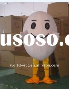 fur egg mascot costume, animal mascot costume, fancy dress costume