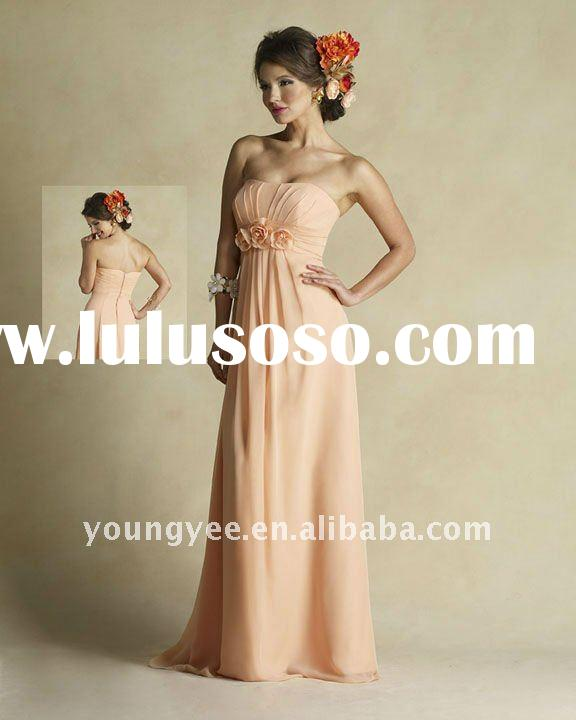 hot sales chiffon scoop neckline prom dress pregnant women dresses 2011 latest dress designs,party d