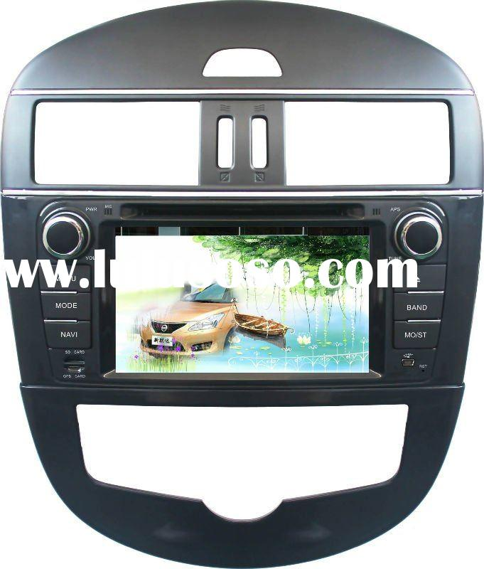 7 HD digital nissan New Tiida car gps with SD card from fcatory