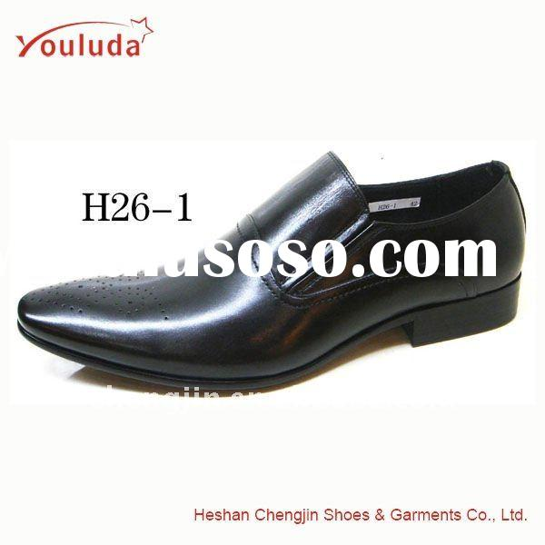 Men's cheap leather dress shoes made in China H26-1