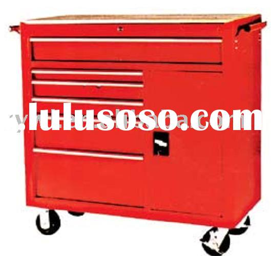 tool box with wheels and handle