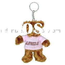 Plush Animal Key Chain Stuffed Animal Keychain Mini Plush Bear Keyring Toy