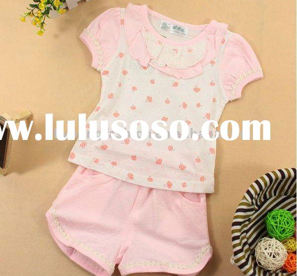 new born baby girl's 100% cure cotton with lovely printing charm suit
