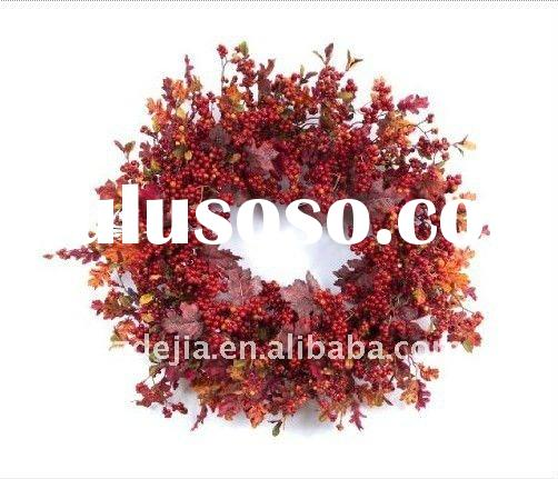 Decorative Artificial Flower Wreath for Spring Decorations