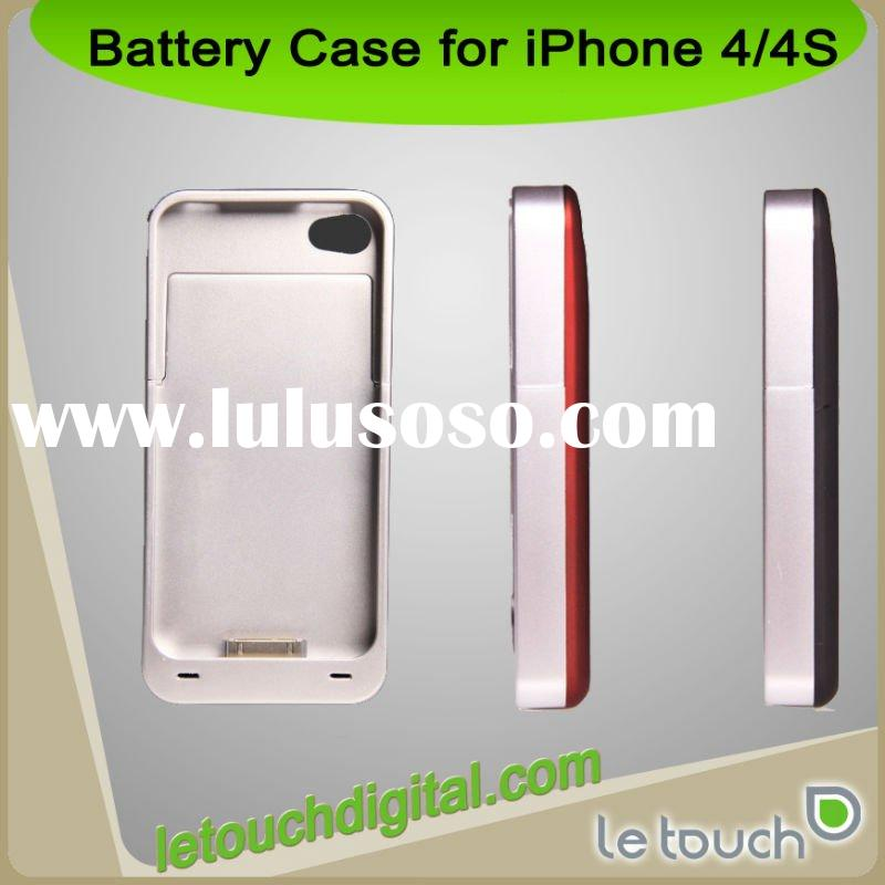 Wholesale Power pack case 2200mAh External battery case for iPhone 4/4S