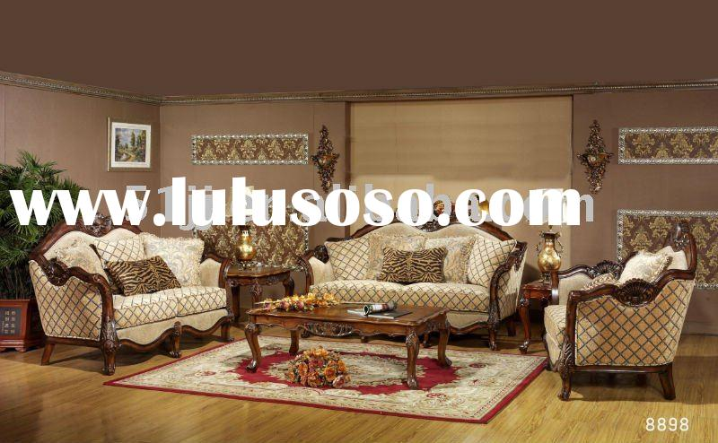 Wooden European Living Room Furniture sofa set MLG-8898
