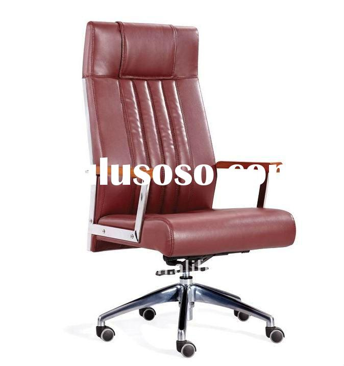 wood with stainless steel high back office chair 632