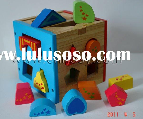 Wooden shape sorter toy