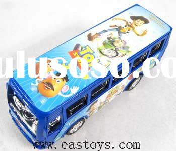 Plastic toy bus