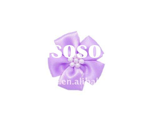Satin Ribbon Bow Tie With Floral For Decorating