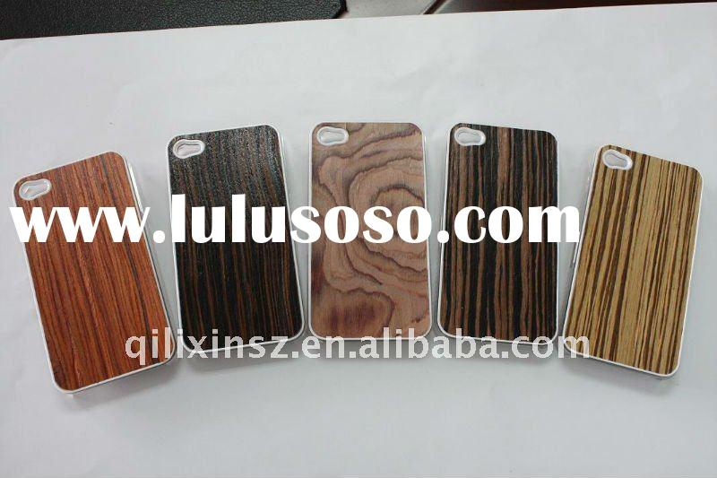 high quality fation hard PC plastic hard wood cases for iphone 4