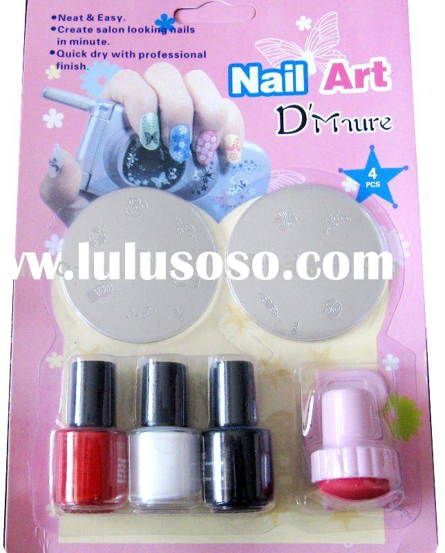 stamping nail art kit, nail art printer, stamp and scrapper set