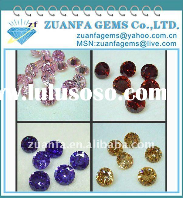 3mm round shape colored synthetic diamond