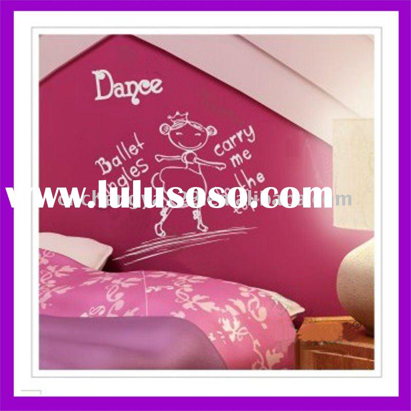 Ballet girl pvc mirror adhesive decorative wall sticker/wall point sticker