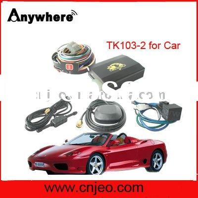 car GPS tracker TK103-2,shock sensor,remote control,free software,overspeed/theft alert,real time tr