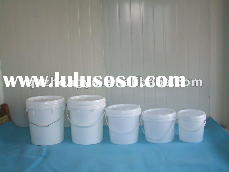 5 Gallon HDPE paint bucket plastic pail with plastic lid and plastic handle