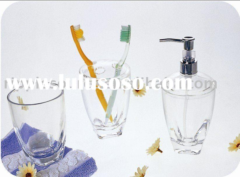 3PCS acrylic bathroom set and accessories,plastic bathroom set and accessories, bath gift set