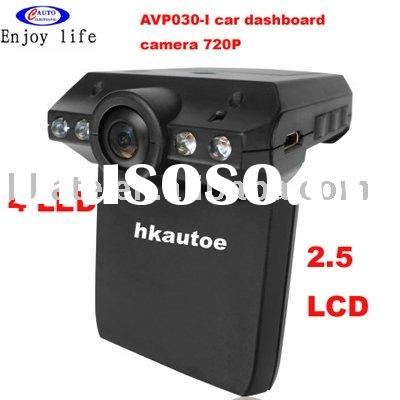 "HD720P Car black box vidio camera Recorder 4LED 2.5"" LCD Cycle AVP030I"