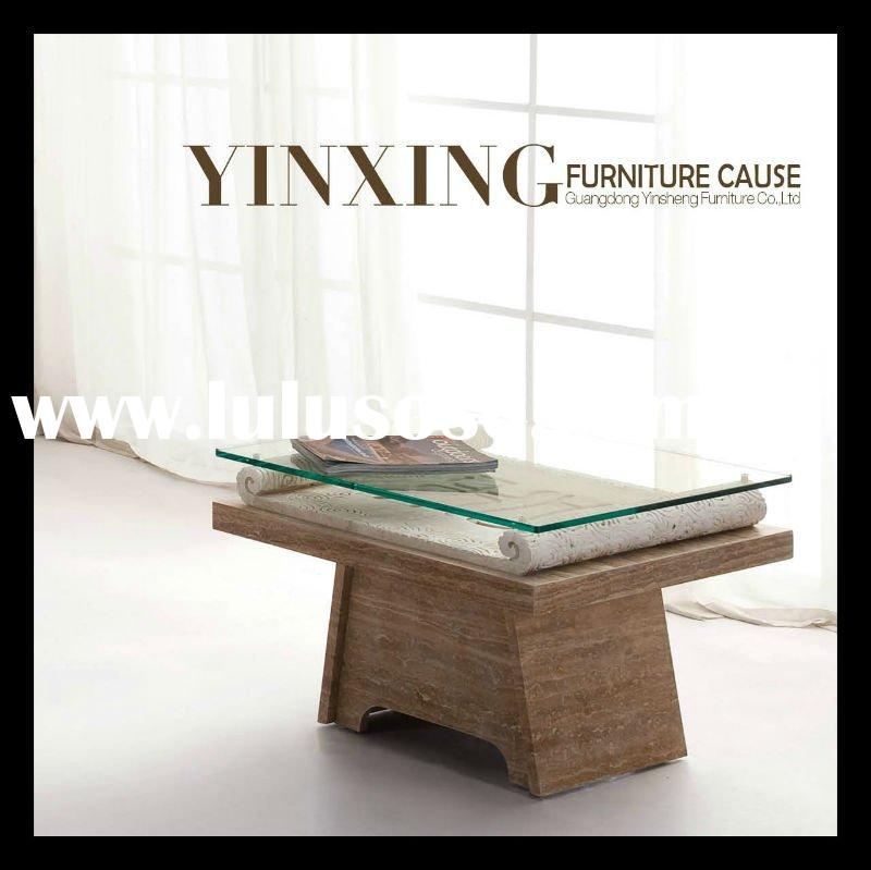 Modern Marble and Glass Top Dining Table D1109
