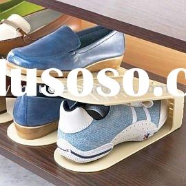 Plastic single design shoe display &rack