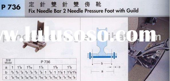 Sewing machine spare parts presser foot Fix Needle Bar 2 Needle Pressure Foot with Guild P736