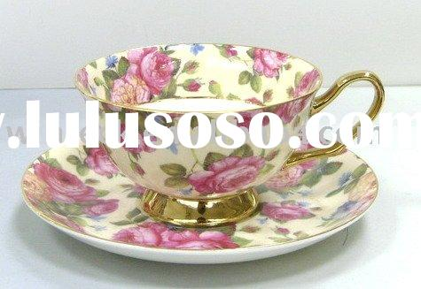 Ceramic Tea Cup and Saucer Set with Gift box packing