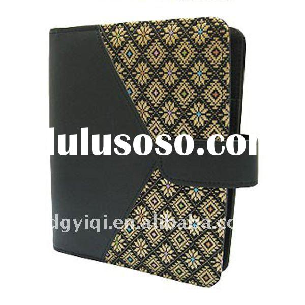 LN-322 Business leather pu notebook with belt fastener