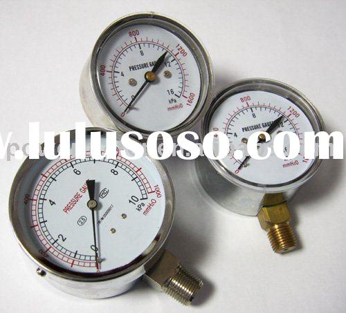 bellows black steel case pressure gauge