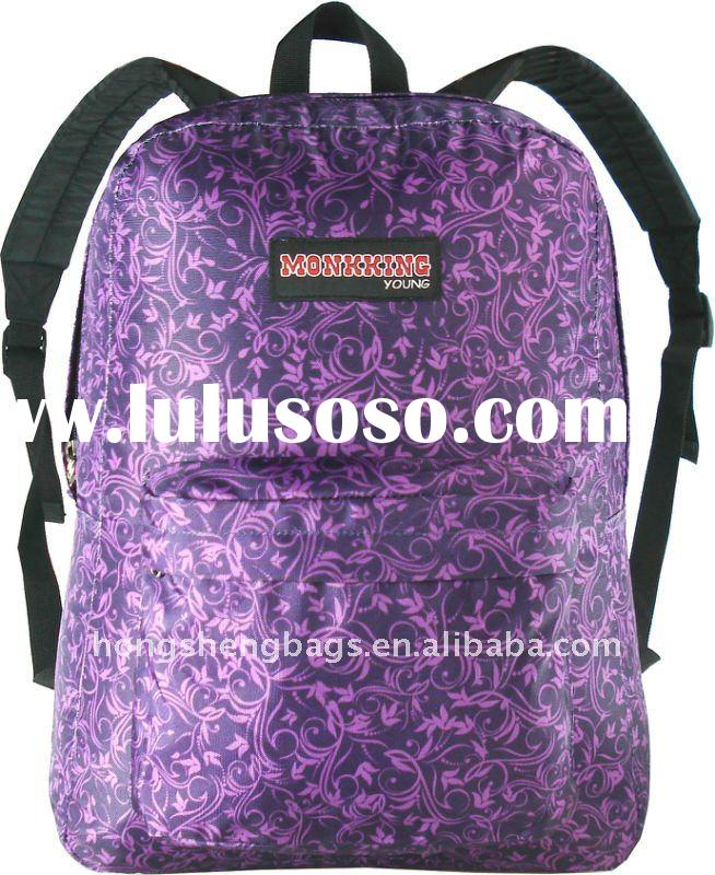 2012 school backpacks for girls in nice design with high quality