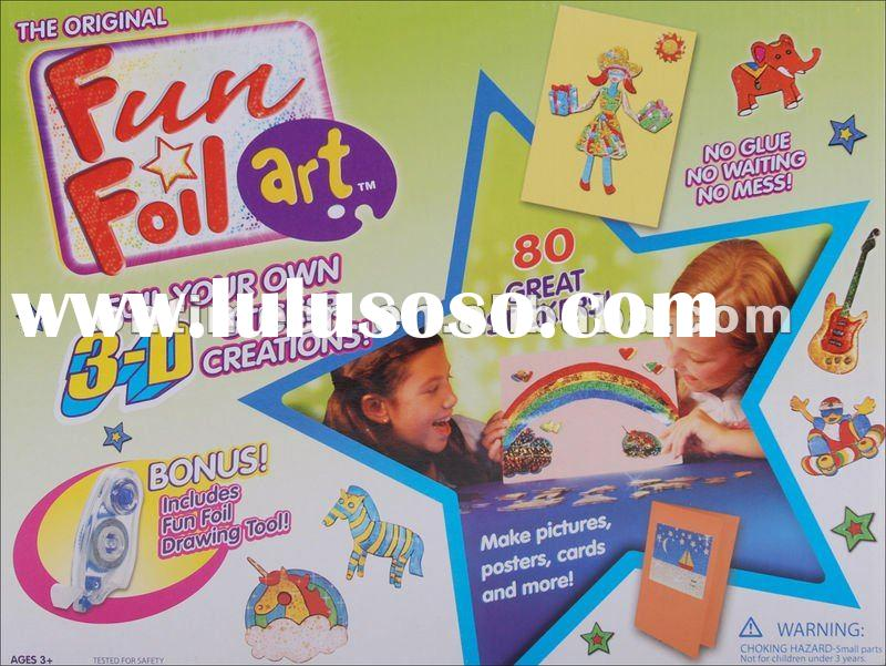 Fun Foil Art, 3D Sticker Scratcherz, Rainbow Art, Eva Sticker