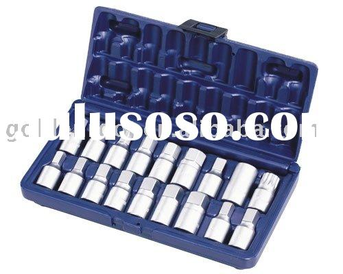 "18pcs 3/8"" Oil Drain Plug Key Set, Auto Repair Tools, Car Body Repair Tools, Car Repair Tool"