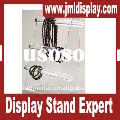 Clear acrylic jewelry display stand, 3 tier bangle bracelet bar holder