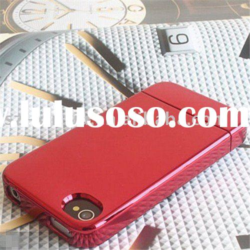 Hot!!! Wholesale high quality glossy class mobile phone case protective case plated plastic hard cas