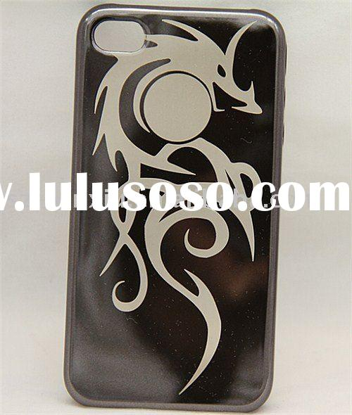 New Arrival Laser engraving plating plastic mobile phone case for iphone 4g protective hard case