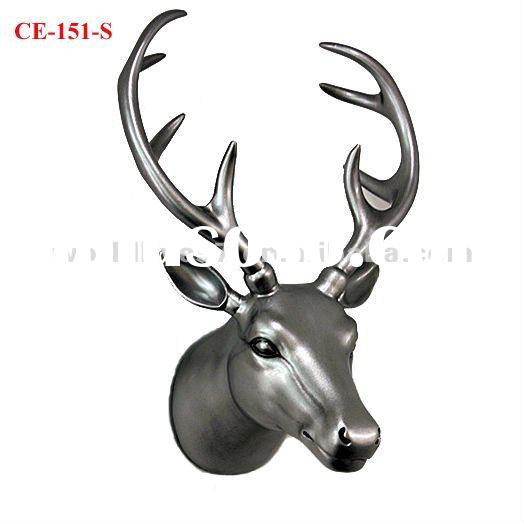 home decoration resin deer head craft