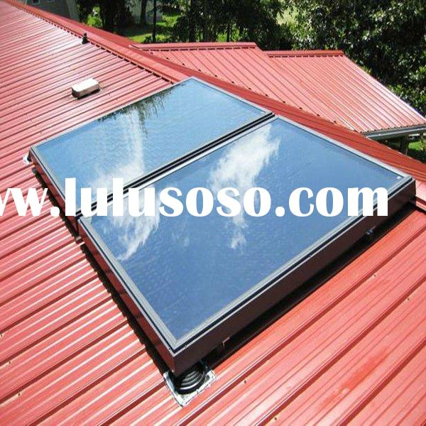 Flat Plate Passive Solar Water Heater Solar Mounting System Flat Roof