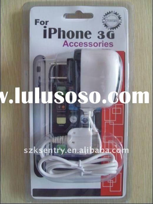 Wholesale Mobile phone Travel charger for iPhone 4 home charger AC/DC Adatper for iPhone 4/3gs