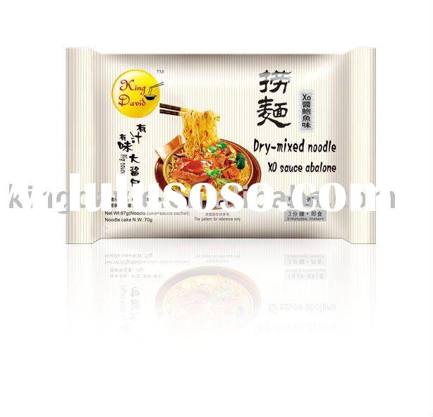 85g Dry-mixed Instant Noodles In Bag XO Sauce Abalone Flavour