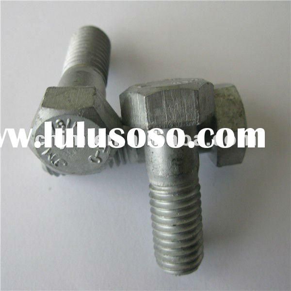ASTM A394 TypeO Galvanized Tower Bolt