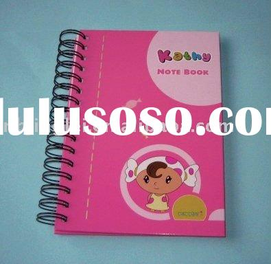 Spiral notebook school diary design spiral notebook with color pages