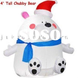 airblown inflatables cheap price Airblown Inflatable Chubby Bear Christmas Decor, 4' Tall