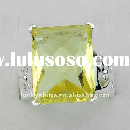 2012 newest fashion silver jewelry 925 sterling silver citrine ring