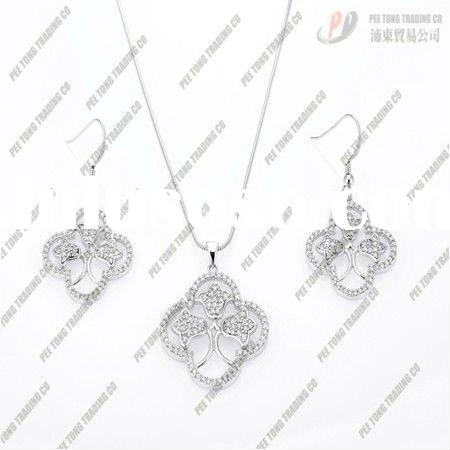 Fashion jewelry 925 sterling Silver charms Necklaces earrings