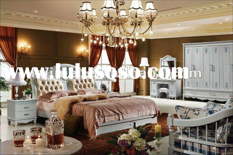 Solid wood bedroom furniture/Fancy bedroom furniture/luxury bedroom furniture set