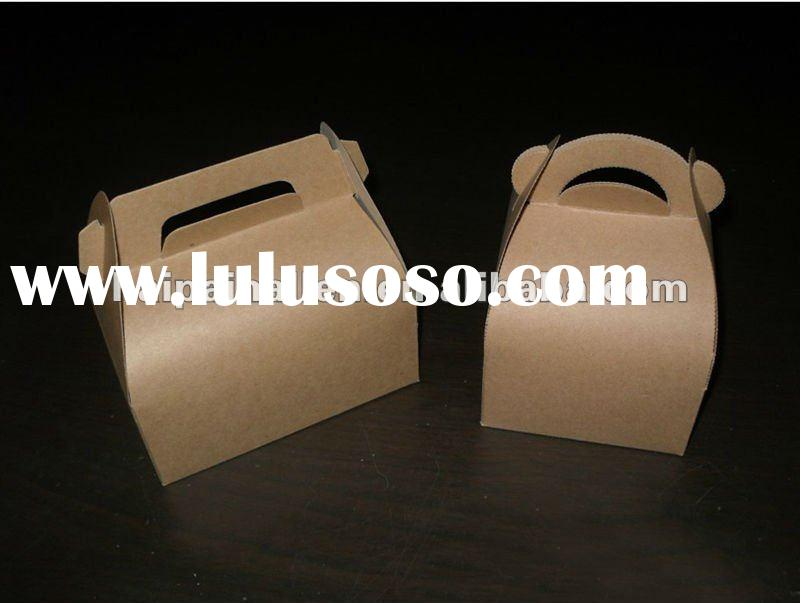 2012 Kraft paper sandwich box with handle